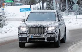 2018 rolls royce cullinan spied testing with the new phantom