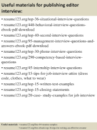 Editor Resume Sample by Top 8 Publishing Editor Resume Samples
