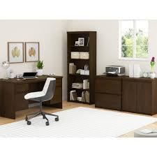 Sauder Premier 5 Shelf Composite Wood Bookcase by Ameriwood Resort Cherry Open Bookcase 9416207p The Home Depot