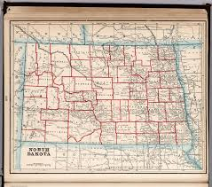 Map Of Nd North Dakota