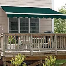 amazon com aleko 12x10 feet retractable patio awning green 3 5