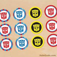 transformers cake decorations printable transformers cupcake toppers