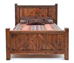 Western Bed Frames Barn Wood Bed Reclaimed Wood Bed Western Bed Lodge