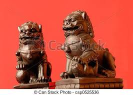 fu dogs foo dogs a pair of fu dogs the has his right