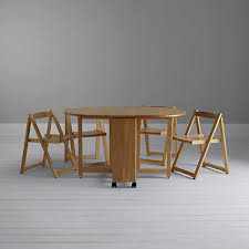 Drop Leaf Table And Folding Chairs Buy John Lewis Butterfly Drop Leaf Folding Dining Table And Four