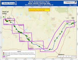 Map Of Saskatchewan Canada by This Map From Husky Energy Shows Water Quality Analysis Following
