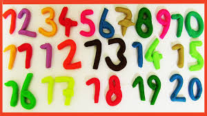 counting numbers 1 to 20 learn to count with play doh numbers 1 to 20 counting 1 20