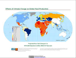 Climate World Map by Maps Effects Of Climate Change On Global Food Production From