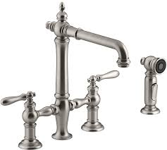 bridge faucets for kitchen stylish and functional farmhouse kitchen faucets the weathered fox