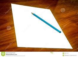 Paper With Writing White Paper With Pencil On Desk Royalty Free Stock Photo Image