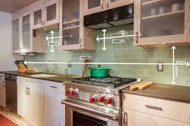 Green Kitchen Tile Backsplash How To Measure Your Kitchen Backsplash