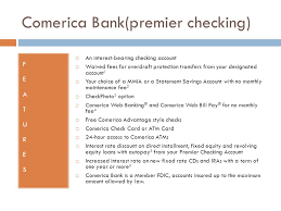 Comerica Business Credit Card Savings Assignment By Grace Martin Comerica Bank Premier
