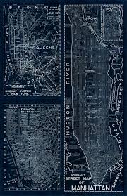 New York Street Map by New York Blackout Majesty Maps U0026 Prints