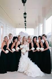 black and white wedding bridesmaid dresses bridesmaids in black or just black