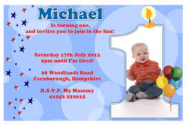 invitation first birthday boy