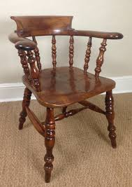 Antique Captains Chair A Rare Yew Wood Captains Chair C 1880 250175 Sellingantiques Co Uk
