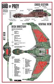 star trek blueprints b u0027rel class klingon bird of prey