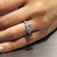 gabriel and co engagement rings emerald cut engagement rings gabriel co