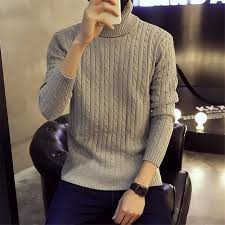 aliexpress buy mens turtlenck sweaters solid colors coarse