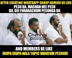 Group Memes - silence in whatsapp group tamil funny memes tamil messenger