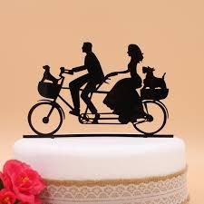 bicycle cake topper aliexpress buy free shipping acrylic big day wedding cake