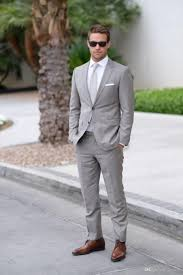 light gray wedding mens suits slim fit bridegroom tuxedos for
