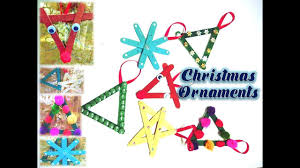 diy popsicle stick christmas ornaments kids crafts snowflake