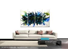 abstract painting blue abstract art home decor wall hanging 7629