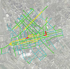 Map Dallas Downtown Traffic And The