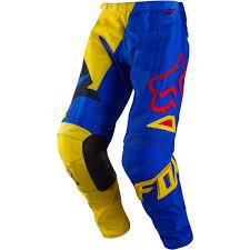 motocross kids gear all new fox racing 2015 kids 180 vandal pants yellow blue wide