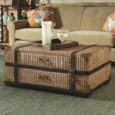 coffee table storage rustic coffee table trunk chest leather full