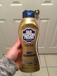 this stuff gets hard water spots off your glass shower door no