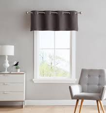 warm home designs charcoal blackout curtains valance scarf tie