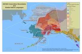Map Of Us And Alaska by Alaskan Native Corporation Links