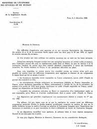 lettre de demande de fourniture de bureau annexe int échange de lettres des 5 et 14 décembre 1983 entre