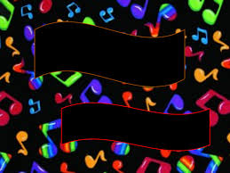 music notes colage ppt template music notes colage ppt background