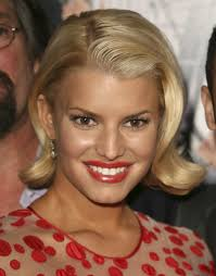 jessica simpson curled out bob short hairstyles lookbook