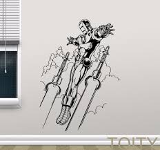 avengers superheroes wall sticker iron man vinyl decal movie avengers superheroes wall sticker iron man vinyl decal movie poster teen room dorm club bar creative art decor removable mural in wall stickers from home