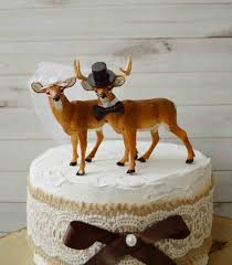 buck and doe cake topper rustic country wedding cake toppers deer buck and doe themed