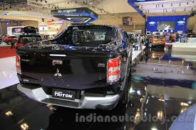 mitsubishi indonesia 2016 mitsubishi triton exceed black rear three quarters right at the