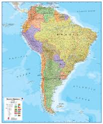 Map O Wall Map Of South America Large Laminated Political Map