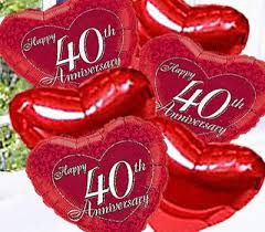 what is 40th wedding anniversary 40th wedding anniversary flowers wedding corners