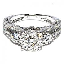 stone rings style images Bridal 3 stone style vintage 2ctw diamond engagement wedding ring jpg