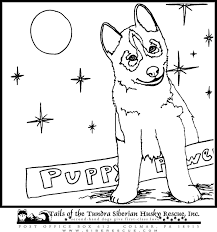 husky puppies coloring pages siberian husky coloring pages 17775