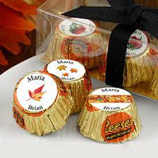 fall themed wedding fall themed wedding hershey reese s chocolate party favors