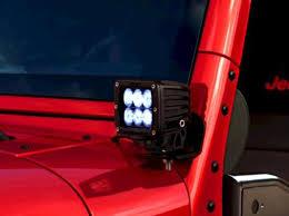led lights for jeep wrangler jeep wrangler off road led light kit 6 led flood pattern part no