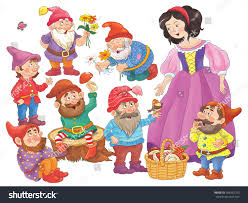 snow white coloring book snow white seven dwarfs fairy tale stock illustration 358482755