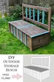Diy Toy Box Bench Plans by Storage For Pool Easy To Build I Think The Bottom Would Have