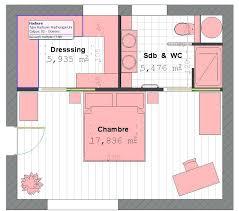 plan dressing chambre plan de dressing chambre great tourdissant plan suite parentale m