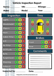 Vehicle Inspection Report Template Free by Inspection Report Form Auto Mechanic Resources